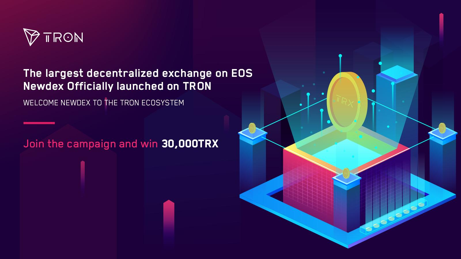 Newdex Crypto Exchange is Launched on TRON